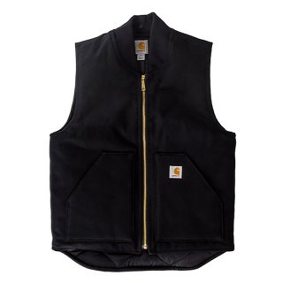 CARHARTT DUCK VEST BLACK