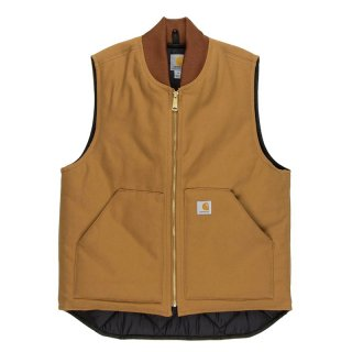 CARHARTT DUCK VEST BROWN