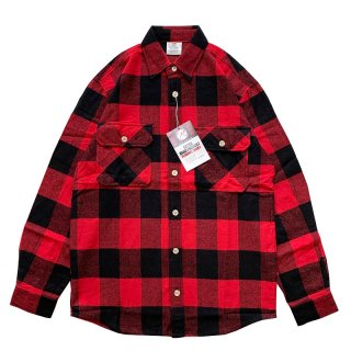 ROTHCO EXTRA HEAVYWEIGHT BRAWNY FLANNEL SHIRTS RED