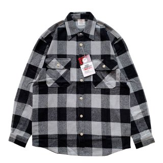 ROTHCO EXTRA HEAVYWEIGHT BRAWNY FLANNEL SHIRTS GREY BLACK