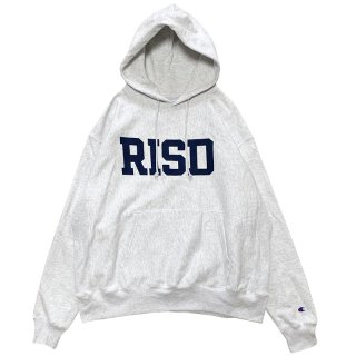 RHODE ISLAND SCHOOL OF DESIGN BLOCK LOGO HOODIE ASH GREY