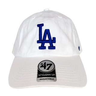 "'47 BRAND ""LOS ANGELS DODGERS"" CLEAN UP TWILL CAP WHITE"