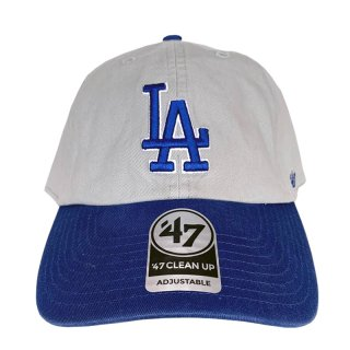 "'47 BRAND ""LOS ANGELS DODGERS"" CLEAN UP TWILL CAP GREY BLUE"