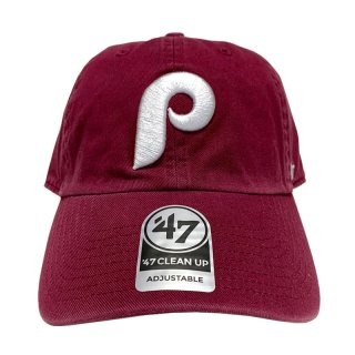 "'47 BRAND ""PHILADELPHIA PHILLIES"" CLEAN UP TWILL CAP BURGUNDY"