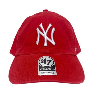 "'47 BRAND ""NEW YORK YANKEES"" CLEAN UP TWILL CAP RED"
