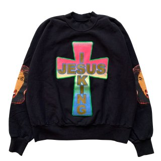 KANYE WEST AWGE FOR JESUS IS KING CROSS CREWNECK II BLACK