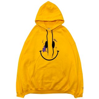 WE ARE LITTLE GIANTS x YAMS DAY YAMBORGHINI SMILEY HOODIE YELLOW