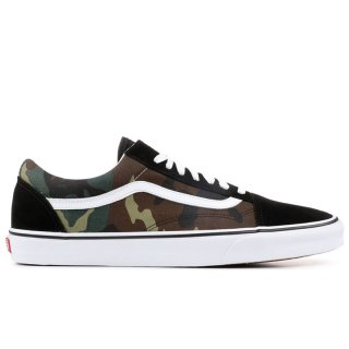 VANS OLD SKOOL BK WOODLAND CAMO