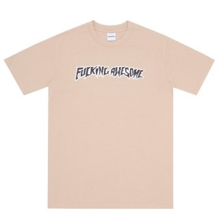 FUCKING AWESOME PUFF OUTLINE LOGO TEE KHAKI