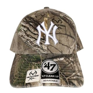 "'47 BRAND ""NEW YORK YANKEES"" CLEAN UP TWILL CAP REAL TREE CAMO"