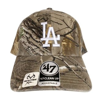 "'47 BRAND ""LOS ANGELS DODGERS"" CLEAN UP TWILL CAP REAL TREE CAMO"