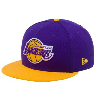 NEW ERA  9FIFTY LOS ANGELS LAKERS PURPLE YELLOW