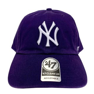 "'47 BRAND ""NEW YORK YANKEES"" CLEAN UP TWILL CAP PURPLE"