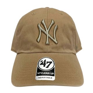 "'47 BRAND ""NEW YORK YANKEES"" CLEAN UP TWILL CAP KHAKI"