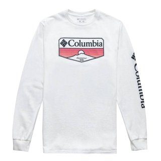 COLUMBIA SANDY LONG SLEEVE TEE WHITE