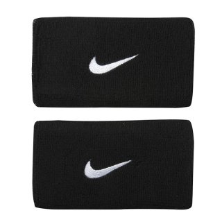 NIKE TWO DOUBLE WIDE WRISTBANDS BLACK