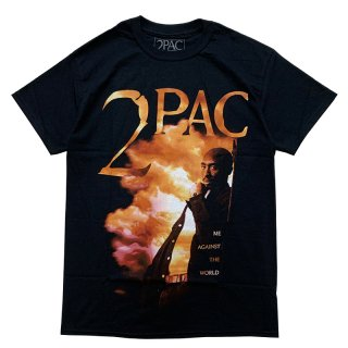 2PAC ME AGAINST THE WORLD TEE BLACK