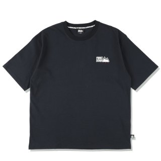 FIRST DOWN EMBROIDERY TEE BLACK