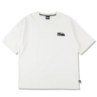 FIRST DOWN EMBROIDERY TEE WHITE