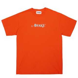 AWAKE NY CLASSIC LOGO TEE RED ORANGE
