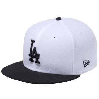 NEW ERA 9FIFTY LOS ANGELES DODGERS WHITE BLACK