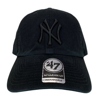 "'47 BRAND ""NEW YORK YANKEES"" CLEAN UP TWILL CAP BLACK"
