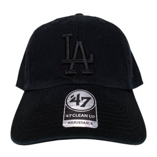 "'47 BRAND ""LOS ANGELS DODGERS"" CLEAN UP TWILL CAP BLACK"