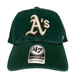 "'47 BRAND ""OAKLAND ATHLETICS"" CLEAN UP TWILL CAP GREEN"