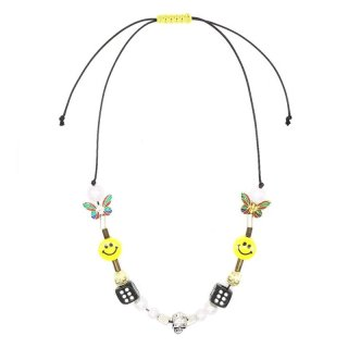 *EVAE+ SMILEY PEARL NECKLACE YELLOW MULTI