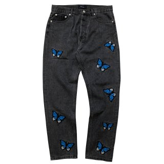 STUGAZI BUTTERFLY DENIM BLACK
