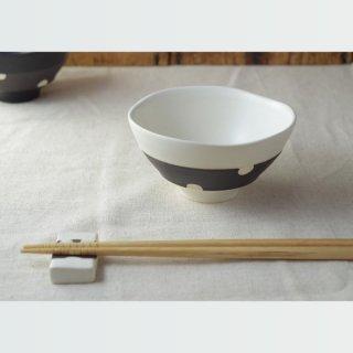美濃焼 チョコ削り ご飯茶わん(小)