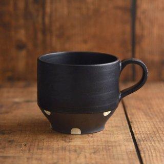 美濃焼 チョコ削り マグカップ [ブラック]