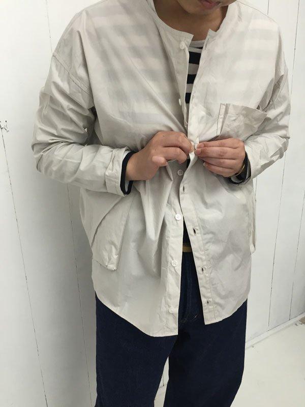 コットンタイプライタークロス パジャマシャツ