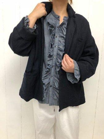 リネンウールギャバ Big ジャケット
