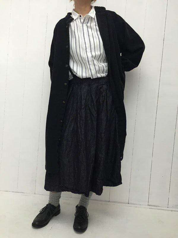 オリジナルライトデニム ショルダーストラップスカート