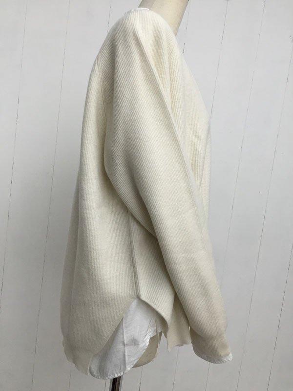 Merino Wool サイドスリット プルオーバー