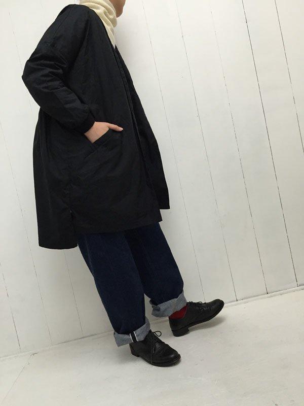 40/-平ダンプ リブドッキング ノーカラーコート