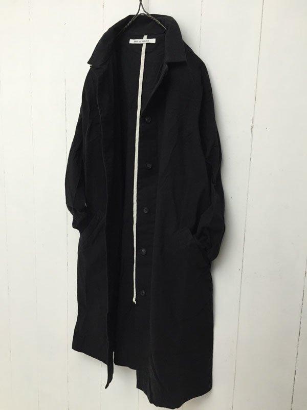 起毛ツイル リブドッキング ステンカラーコート