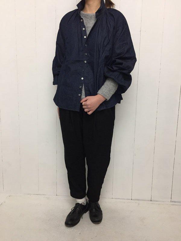4.5oz デニム グランロンシャツ (one wash)