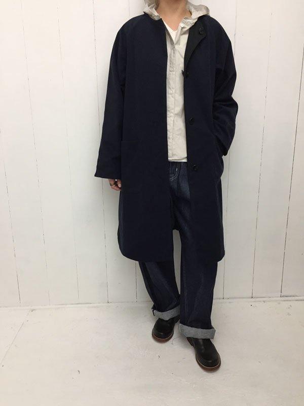 コットンタイプライタークロス フードシャツ
