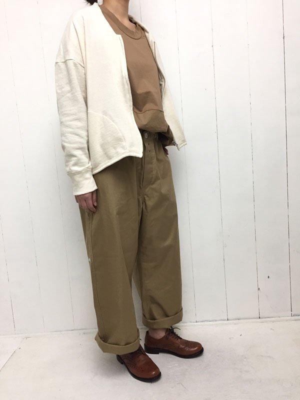 24/1 ECO リバイバル裏毛 ZIP カーディガン