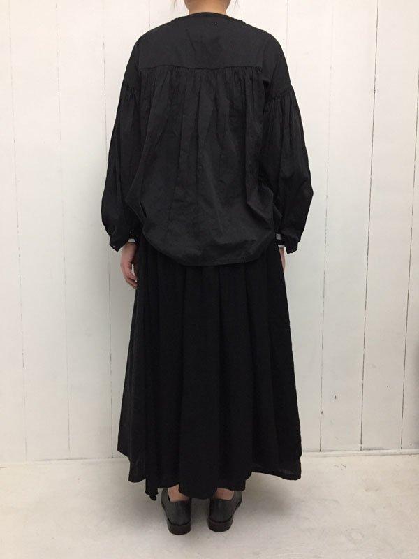コットンリネン オーバーラップスカート