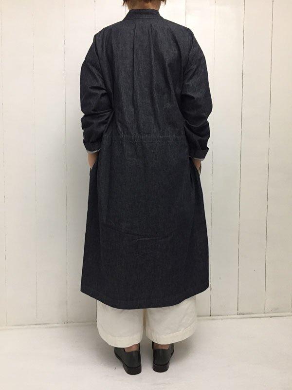 Indigo like denim シャツコート