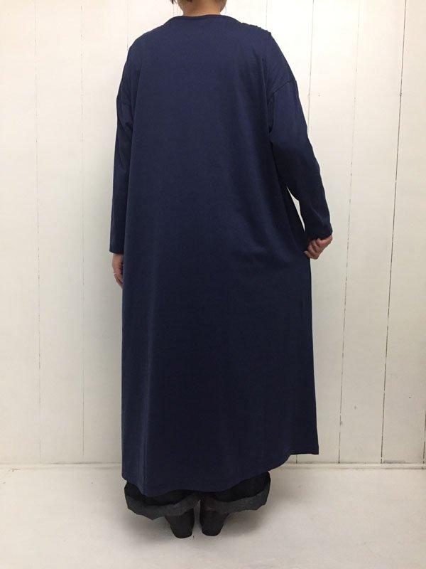 60/2 超度詰天竺 × 50/1 タイプライター 切替マキシワンピース
