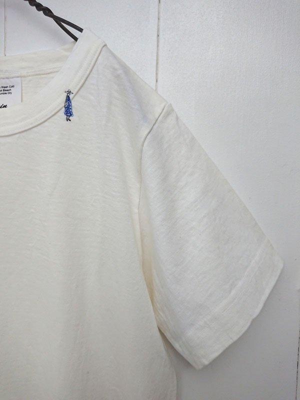 マナプール天竺 刺繍 クルーT