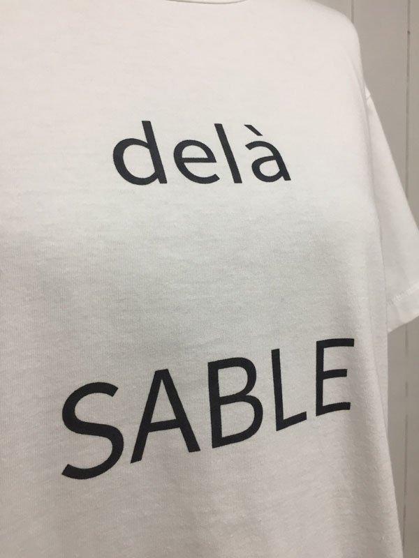 """ロゴTシャツ """"dela SABLE"""""""