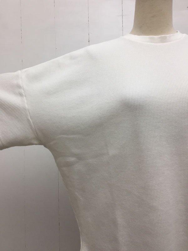 ワッフル 半袖 ビッグプルオーバー