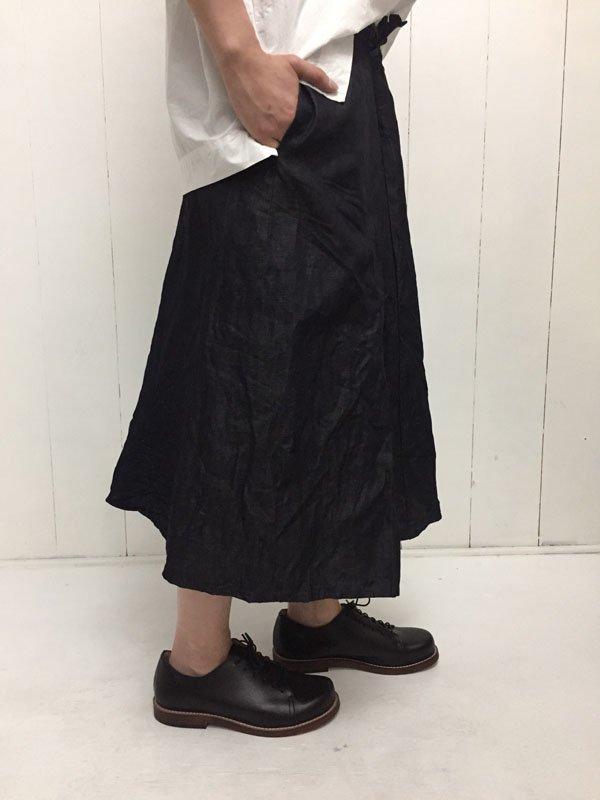 ライトデニム ラップスカート
