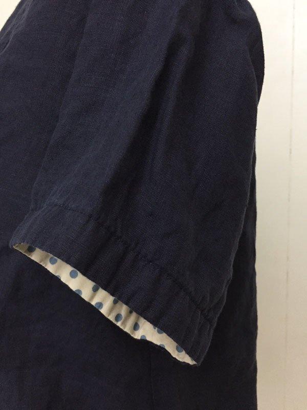 カラーリネン パジャマシャツ