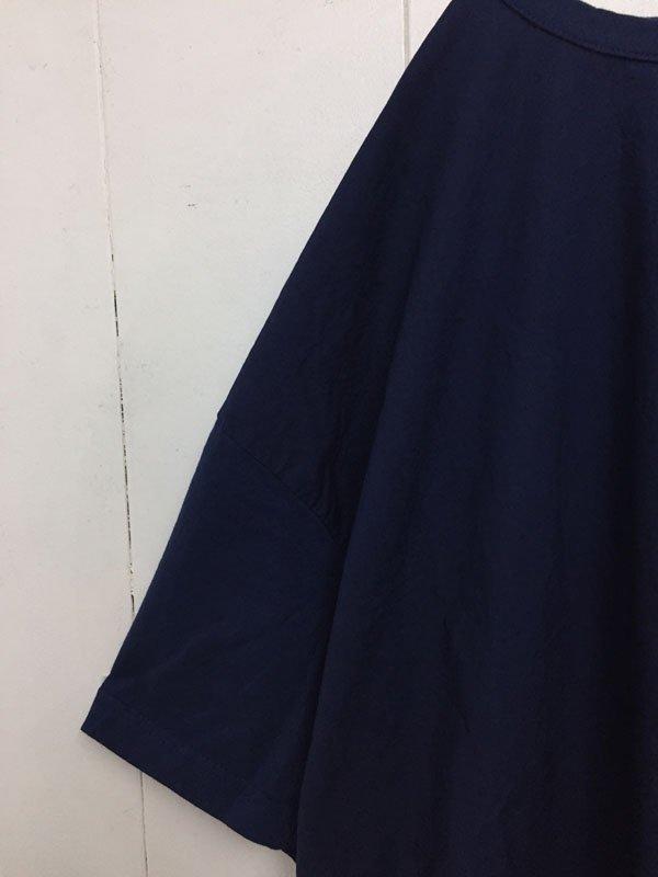 30/1 ハイゲージ天竺 × 80/1 タイプライター 切替 スリットワンピース